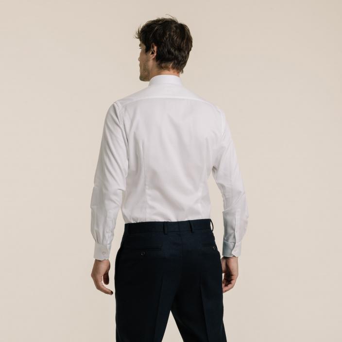 Slim fit white dobby shirt