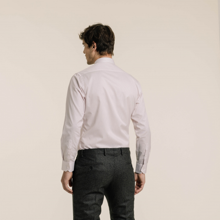 Classif fit thin red stripes twill shirt