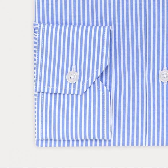 Slim fit dobby blue stripes...