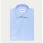 Classic fit poplin blue shirt