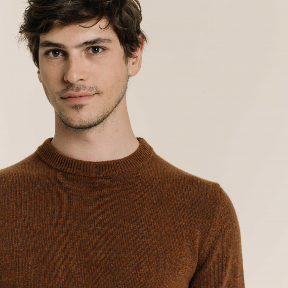 Rust merino wool jumper