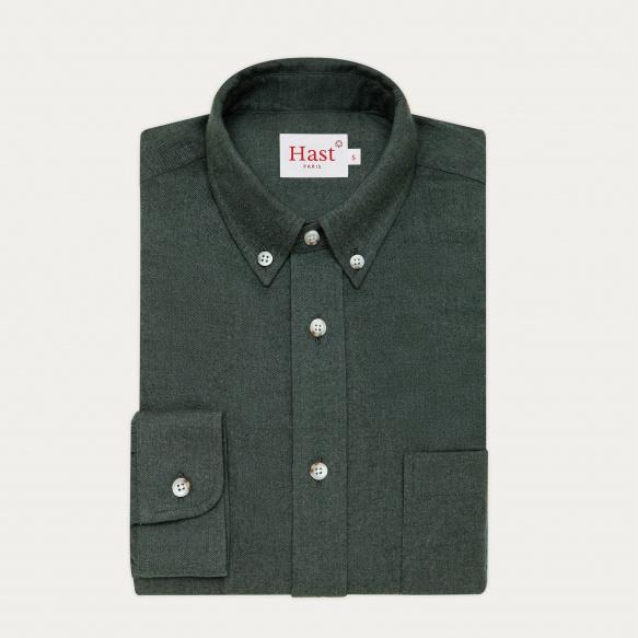 Chemise décontractée en flanelle verte