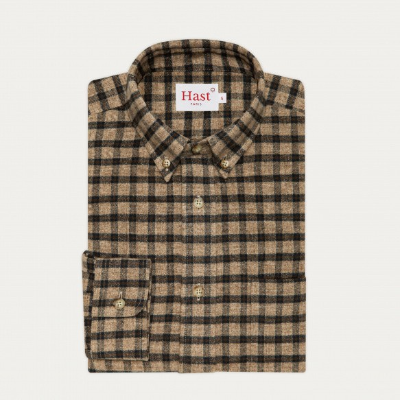Beige checks flannel casual...