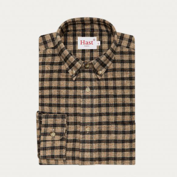 Chemise décontractée en flanelle à carreaux