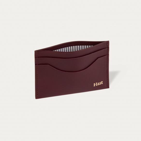 Burgundy cards holder