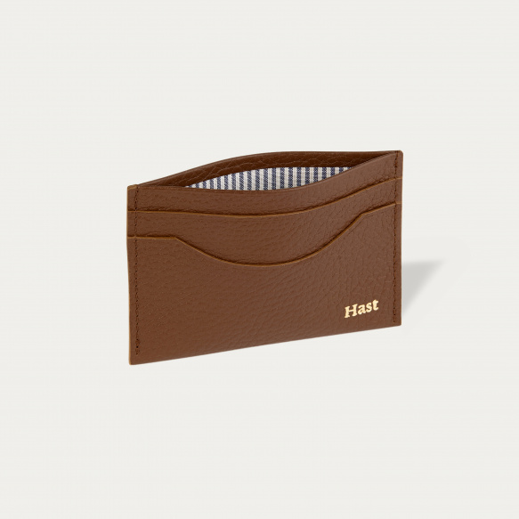 Brown breaded leather cards...
