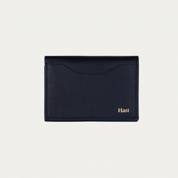 Porte-cartes pliant bleu marine
