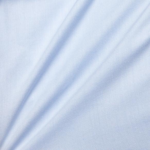 Chemise cintrée en twill bleue
