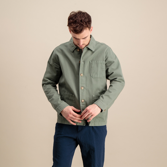Sage green worker's jacket