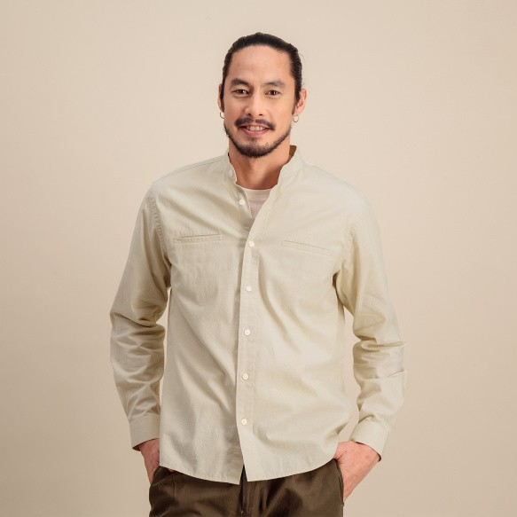 Off-white cotton casual shirt