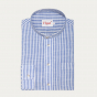 Blue and white stripes cotton casual shirt