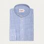 Chemise décontractée en coton à rayures bleues et blanches