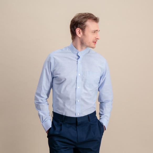 Slim fit light blue...