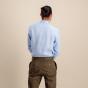 Classic fit blue textured linen shirt