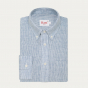 copy of Blue and white stripes linen and hemp casual shirt