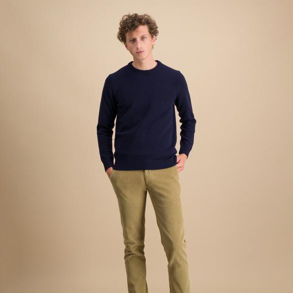 Navy blue merino wool jumper