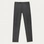 Pantalon en flanelle de laine grise