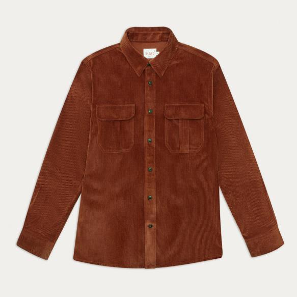 Rust corduroy overshirt