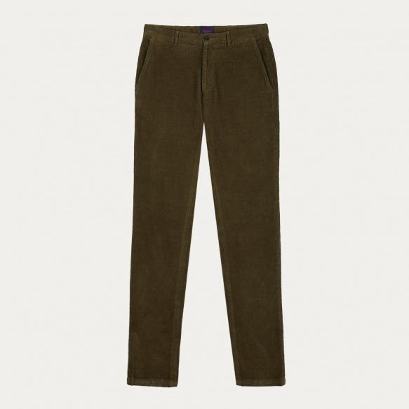 Pantalon en velours kaki