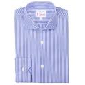 Chemise Extra-Ajustée Bleue Rayée Blanc